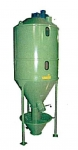 Vertical mixer to prepare animal feed mixtures